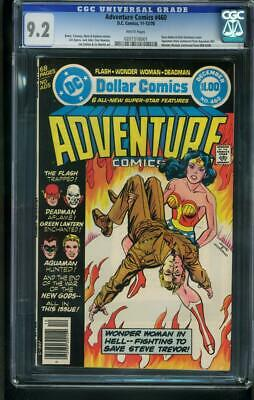 Adventure Comics #460 1978-Cgc Graded 9.2  White Pages-Wonder Woman- 0207318001