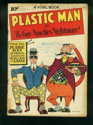 Plastic Man #2-Jack Cole Cover-1944-Golden Age G/vg