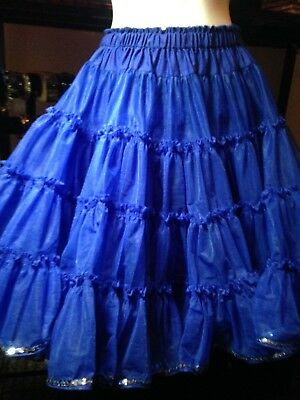 📌📌SALE $25 FS!! VTG CAN CAN & PANTIES SET ROYAL BLUE Petticoat crinoline Swing