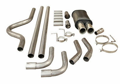 Twin Tip Sports Performance Universal Exhaust Cat Back Full System Box Mc003+2.5