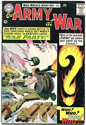 Our Army At War #151 1965- 1st Enemy Ace- DC War Silver Age Key VG