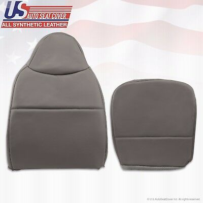 2008 2009 2010 Ford F550 XL Work Truck Driver Bottom-Top Vinyl Seat Cover GRAY