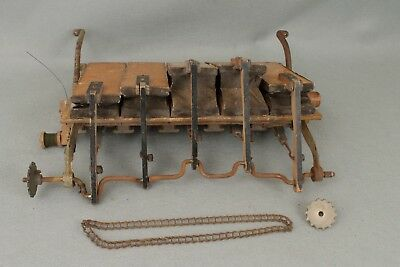 Antique/Vintage Pianola Player Piano 5 Bellow Pneumatic Motor Assembly