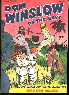 Don Winslow Of The Navy #42-Spicy Amazon Girl Fn/vf