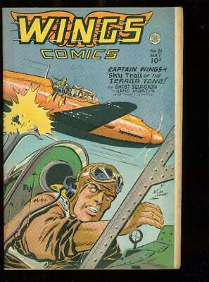 Wings #81-Lubbers Cover-Injury To Eye Panel-Fiction Hou Fn/vf