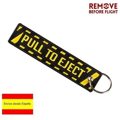 Llavero PULL TO EJECT REMOVE BEFORE FLIGHT Avión A380 777 Boeing Airbus Llaves