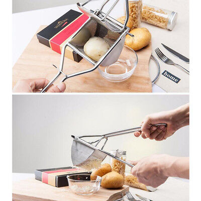 Stainless Steel Hand Held Potato Ricer Masher Fruit Vegetable Juicer Puree