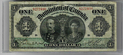 Dominion of Canada One Dollar 1911 p-27 Fine details