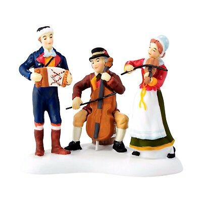 Christmas Market Musicians Dept 56 Alpine Village Series 4044786 NIB accessory