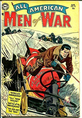 All-American Men of War #12 1954-DC-bobsled bomb cover-WWII stories-FN