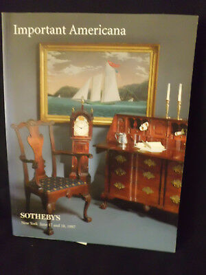 Auction Catalog Sothebys Important Americana A