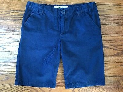 Girls Cherokee Navy Blue Uniform Shorts With Adjustable Waist Size 8+