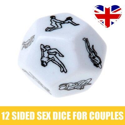12 Sided Couples Funny Sex Dice Hexagon Romance Love Humour Gambling Adult Games