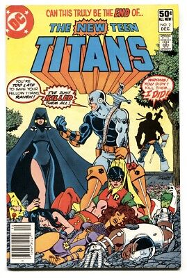 NEW TEEN TITANS #2- comic book First DEATHSTROKE-1980- DC