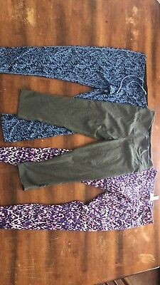 Womens Set Of 3 Nike Leggings Size S And M