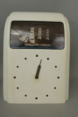 1940's Pale Green Bakelite/Plastic Vitascope Automaton Clock For Spares/Repair