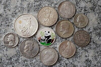 Lot Silbermünzen International zus.ca.134 Gramm - siehe Bilder ! -