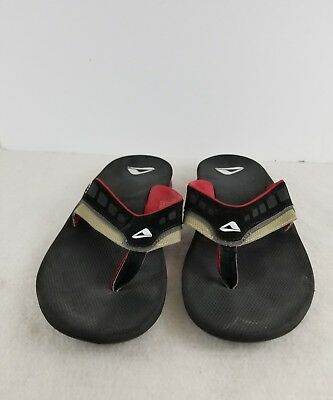 b39041712a7 REEF LEATHER Fanning Lux Sandals - Men s Size 10 Gray Black -  32.50 ...