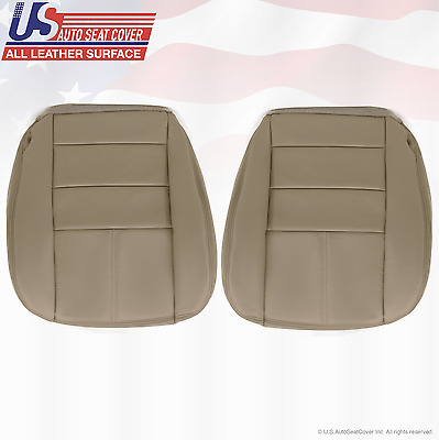 2008 Ford F350 Lariat Driver & Passenger Bottom Leather Seat Cover Stone Gray 4S