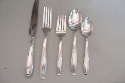 Harmony House Wallace Silverplate Serenade #1 5 Pc. Place Setting Flatware 1944