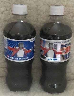 Brand New! 2 Michael Jackson Pepsi/Diet Bottle 2018 Music Generation Series