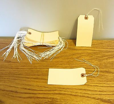 """150 Avery Dennison Pre Strung  #6 Blank Shipping Tags 5 1/4"""" By 2 5/8"""" Scrapbook"""