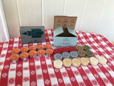 Partylite 26 Tealights ~ Variety of Great Scents ~ NEVER BURNED