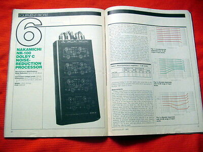 "Nakamichi NR-100 Dolby C noise-reduction processor test review ""Audio"" 8/82"