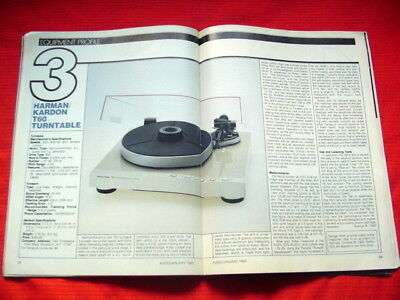 "Harman Kardon T60 turntable test review ""Audio"" magazine 1/83"