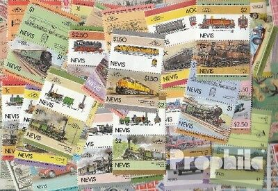 Nevis 100 different stamps