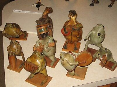 """Folk Art Taxidermy Frogs & Turtle's Band """" Very Unique """""""