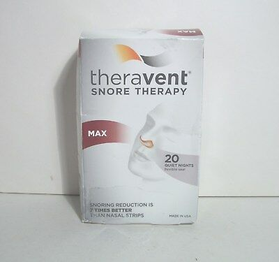 Theravent Snore Therapy Max 19 (Instead of 20) Flexible Seals Exp. 06/2020 *New*