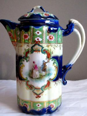 Nippon Rare Hot Chocolate Pot Antique Japanese Porcelain Hand Painted