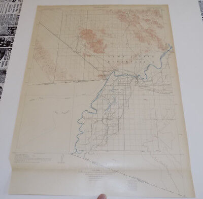 1905 Topographic Map of YUMA QUADRANGLE, CALIFORNIA