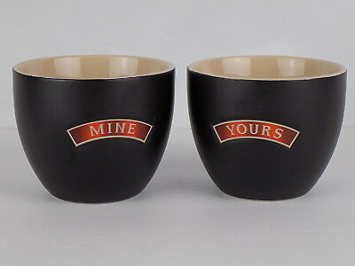 2 Bailey's Irish Cream Ceramic Bowls mugs cups Yours & Mine Dessert Ice Cream