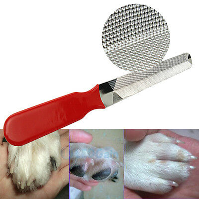 Pet Dog Cat Stainless Steel Professional Nail File Nail Cleaning Tool