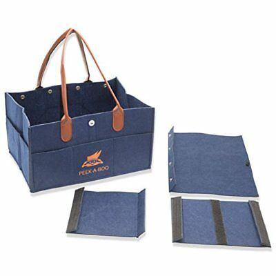 Diaper Caddy Organizer- Nursery Tote Bag - Great for Changing Table & Car Travel