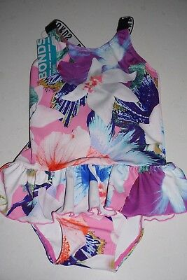 "BONDS one-piece swimmers ""Techno Eden"" size 2 BNWT rare baby toddler"