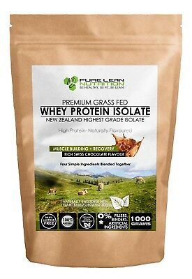 New Zealand Grass Fed WPI Whey Protein Isolate Natural Chocolate