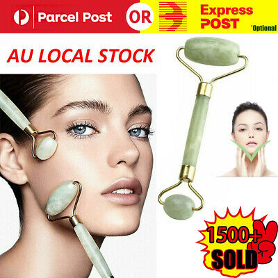 Facial Massage Natural Jade Roller Slim Face Body Beauty Healthy Massage Tool AU