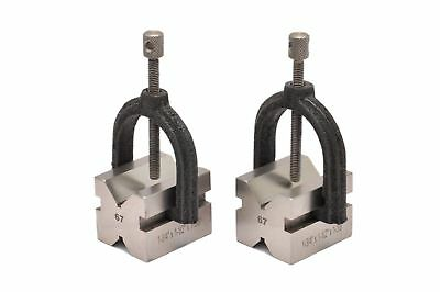"PRECISION 'V' BLOCK SET 1-3/8""x1-1/2""x 1-3/4"" also Includes 2 Blocks and 2 Clamp"
