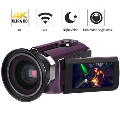 "Andoer 4k Ultra Hd Wifi 48mp 16x Zoom 3"" Lcd Digital Video Camera Camcorder DV"