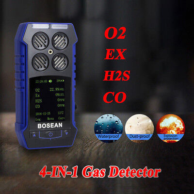 4 in 1 Gas Monitor Detektor EX CO O2 H2S Oxygen Gas Analysator Meter DE STOCK
