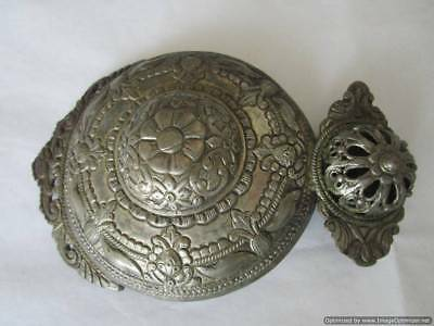 Turkey, Ottoman Empire, large heavy rare silver belt buckle, 19th century, RRR!!