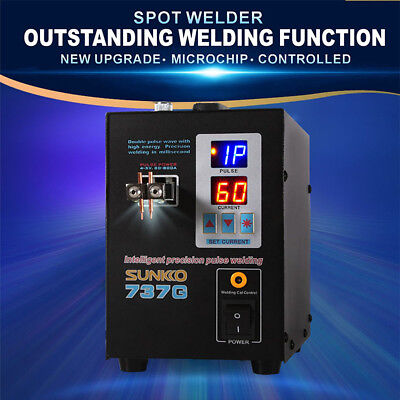 Portable Spot Welder 737G SUNKKO LED Dual Pulse Battery Charger 800A 0.12-0.2mm