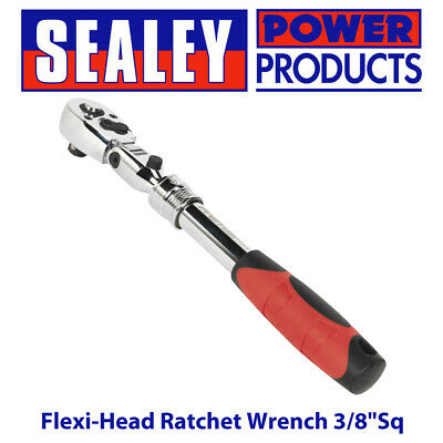 "Sealey AK6681 Flexi-Head Ratchet Wrench 3/8""Sq Drive Extendable"