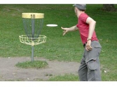 PDGA Approved Disc Golf Set Goal Outdoor Play Game Beginners Professional Player