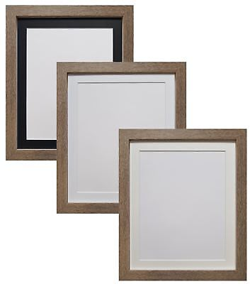 Drift Oak Picture Photo Frames with Black White & Ivory Mounts MDF Wood H7