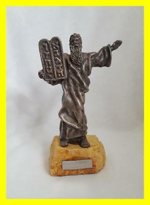 Large 925 Sterling Judaicia Figure Of Moses By Isaac Jeheskel
