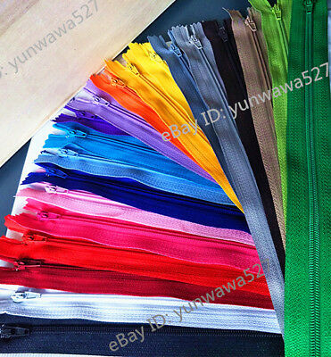 10pcs 3# Nylon Coil Zippers Tailor Sewer Craft (5/6/7/8/10/20 Inch) Crafter's